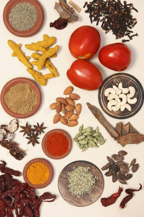 Μίγμα συστατικών τροφίμων στοκ εικόνες με δικαίωμα ελεύθερης χρήσης