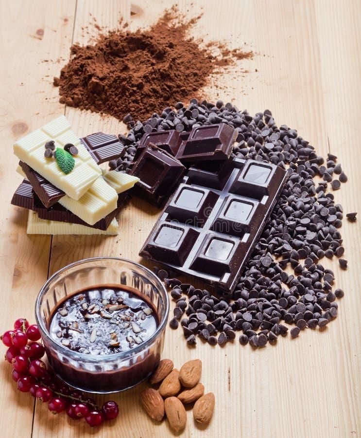 Μίγμα της σοκολάτας στοκ φωτογραφία