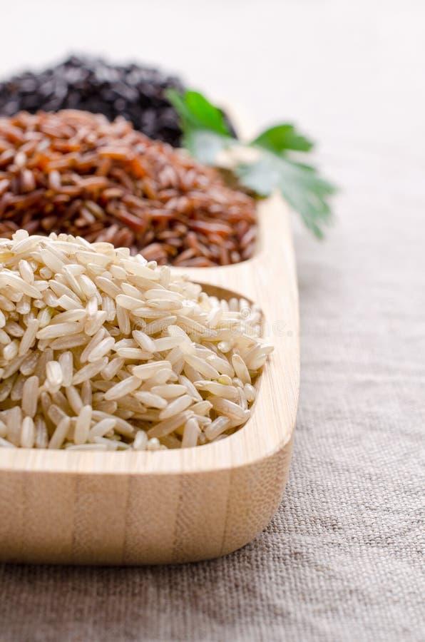 Μίγμα του unpolished ρυζιού στοκ φωτογραφία με δικαίωμα ελεύθερης χρήσης
