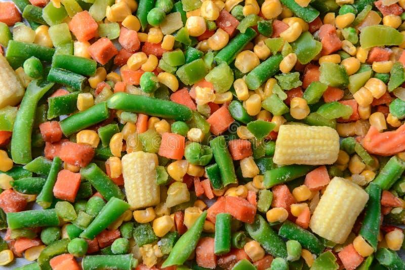 Μίγμα των παγωμένων λαχανικών στοκ εικόνες