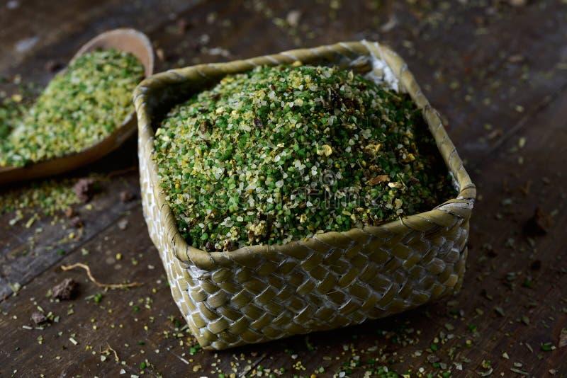 Μίγμα φυτικής σούπας με semolina στοκ εικόνες