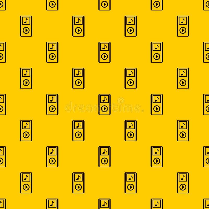 Μίνι διάνυσμα σχεδίων φορητών αναπαραγωγέων μουσικής MP3 απεικόνιση αποθεμάτων