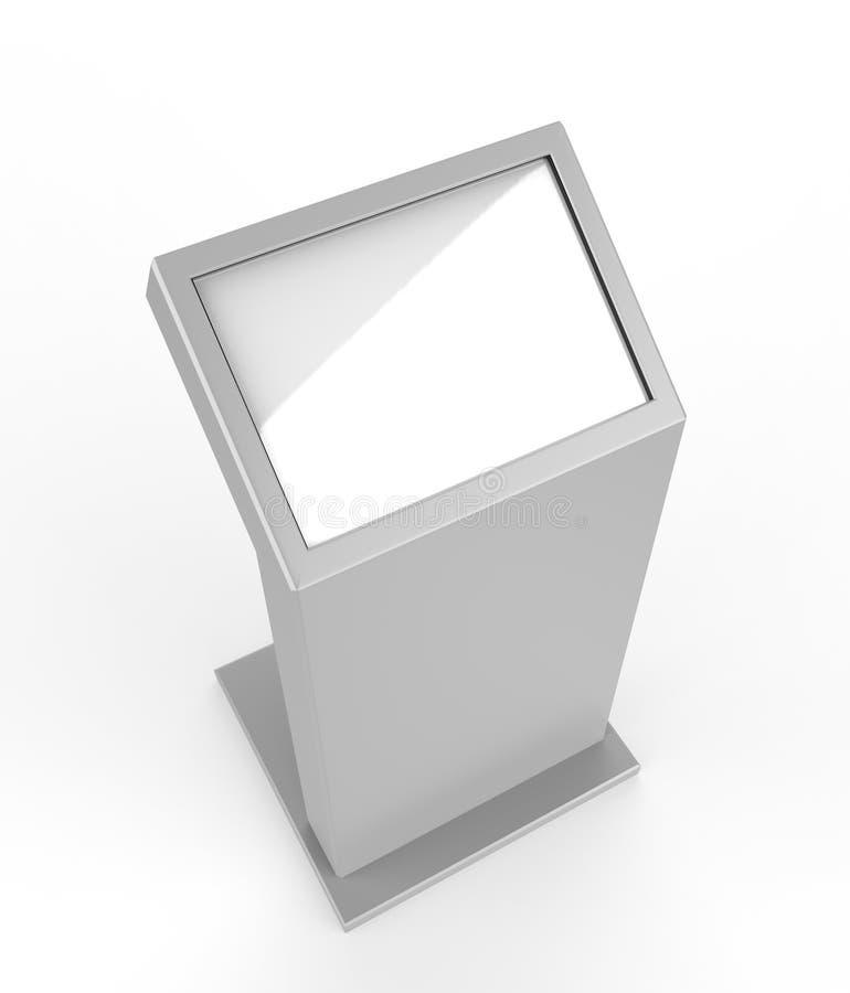Μίνι ελεύθερο πάτωμα που στέκεται το περίπτερο οθόνης αφής LCD η τρισδιάστατη απεικόνιση δίνει διανυσματική απεικόνιση