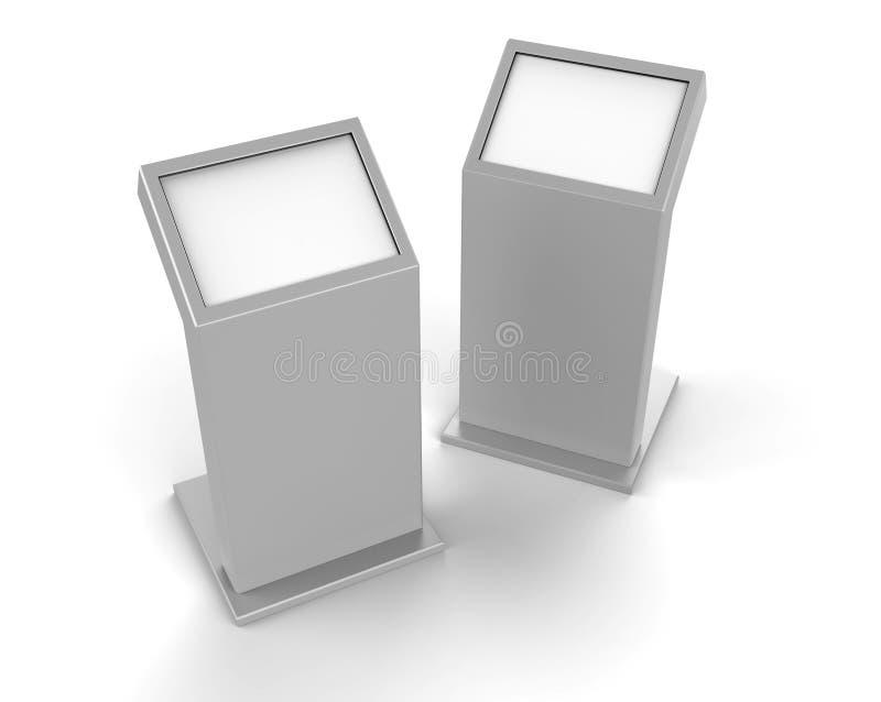 Μίνι ελεύθερο πάτωμα που στέκεται το περίπτερο οθόνης αφής LCD η τρισδιάστατη απεικόνιση δίνει απεικόνιση αποθεμάτων