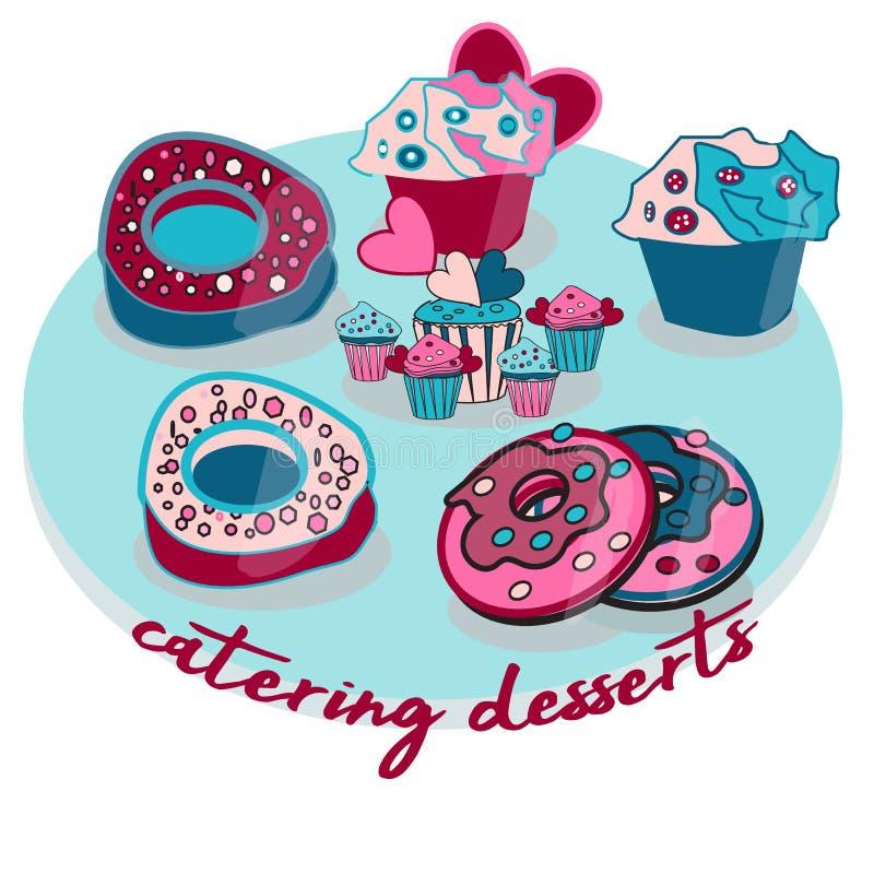 Μίνι επιδόρπιο cupcakes για τις διακοπές απεικόνιση αποθεμάτων
