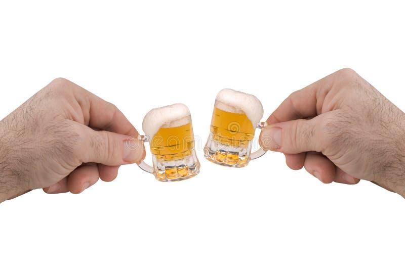 μίνι κούπες μπύρας στοκ φωτογραφία
