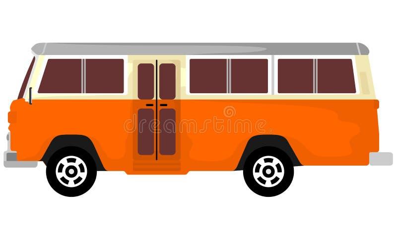 Μίνι μεταφορά λεωφορείων μέσου μεγέθους ελεύθερη απεικόνιση δικαιώματος
