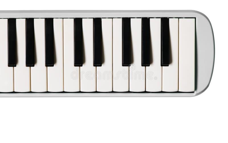 Μίνι πληκτρολόγιο πιάνων Μουσικό επίπεδο υπόβαθρο στοκ φωτογραφία