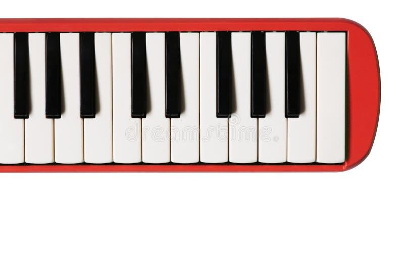 Μίνι πληκτρολόγιο πιάνων Μουσικό επίπεδο υπόβαθρο στοκ εικόνες
