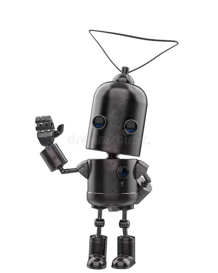 Μίνι ρομπότ σιδήρου σε ένα άσπρο υπόβαθρο ελεύθερη απεικόνιση δικαιώματος