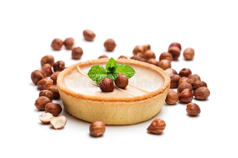 Μίνι φουντούκι και σοκολάτα ξινά που απομονώνει στο άσπρο υπόβαθρο στοκ φωτογραφία με δικαίωμα ελεύθερης χρήσης