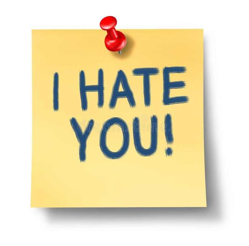 μίσος ι εσείς διανυσματική απεικόνιση