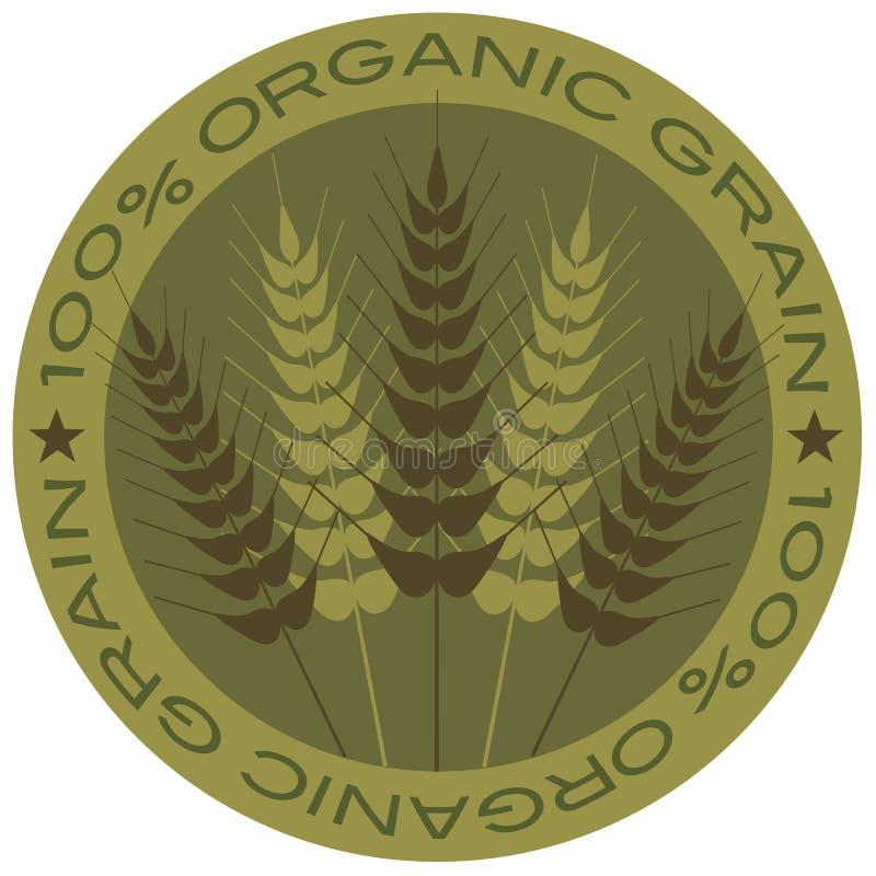 Μίσχος 100% σίτου οργανική ετικέτα σιταριού ελεύθερη απεικόνιση δικαιώματος