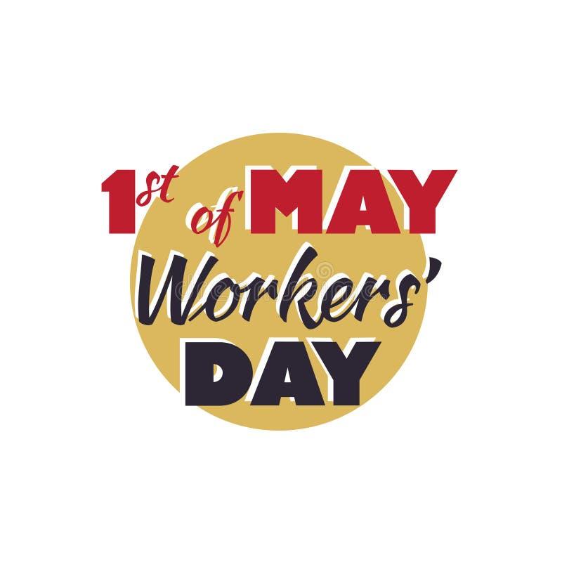 1 Μαΐου ημέρα εργαζομένων s, τυπογραφία, στοκ εικόνες
