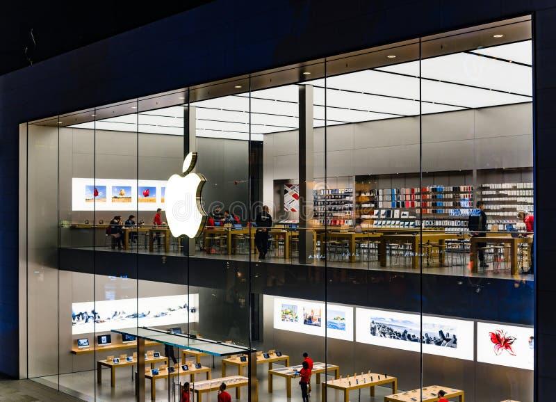 Μαγαζί λιανικής πώλησης της Apple σε Chengdu στοκ φωτογραφίες με δικαίωμα ελεύθερης χρήσης