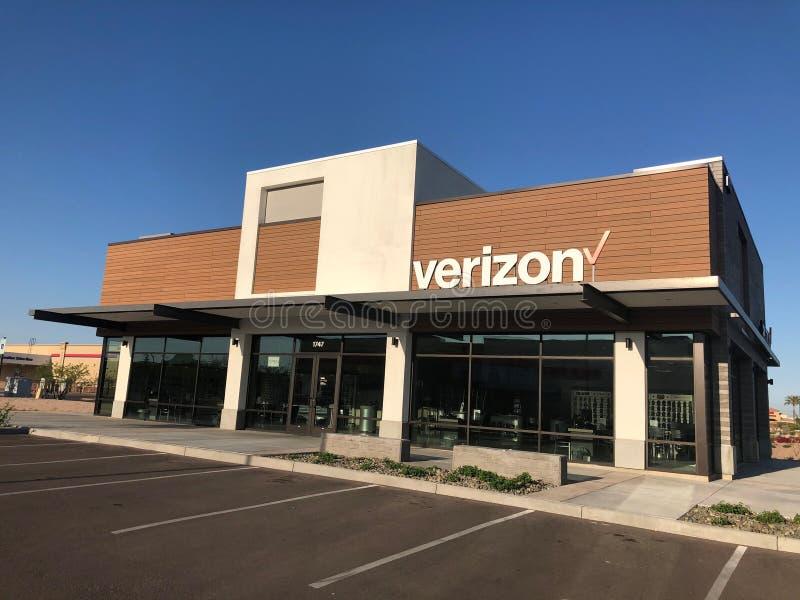 Μαγαζί λιανικής πώλησης της Verizon Wireless στοκ φωτογραφίες με δικαίωμα ελεύθερης χρήσης