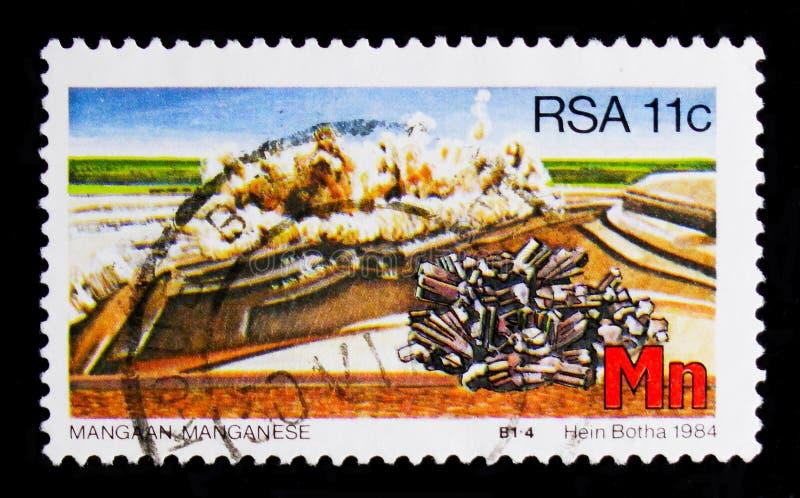Μαγγάνιο, στρατηγικοί ορυκτοί πόροι serie, circa 1984 στοκ φωτογραφία με δικαίωμα ελεύθερης χρήσης