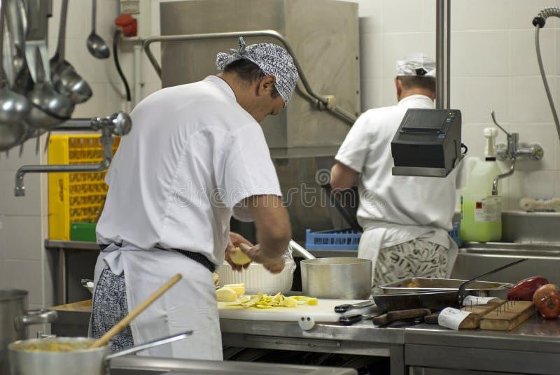 μαγείρεμα αρχιμαγείρων στοκ εικόνες με δικαίωμα ελεύθερης χρήσης