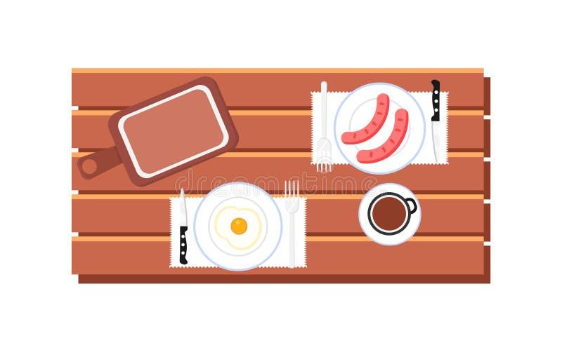Μαγείρεμα και έμβλημα Ιστού τροφίμων διανυσματική απεικόνιση