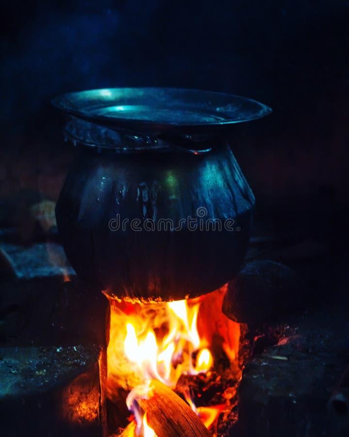 Μαγείρεμα στο ύφος στοκ εικόνες