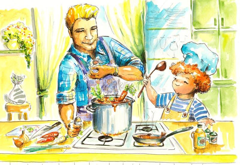 Μαγείρεμα ελεύθερη απεικόνιση δικαιώματος