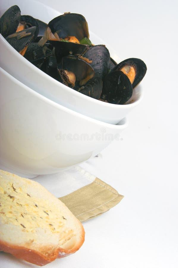 μαγειρευμένα μύδια στοκ εικόνες