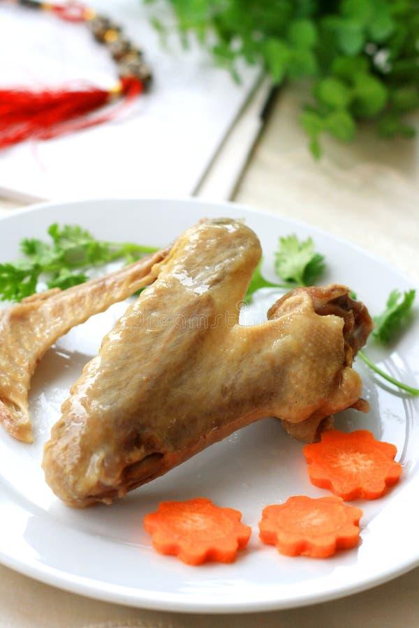 μαγειρευμένα φτερά παπιών στοκ φωτογραφία