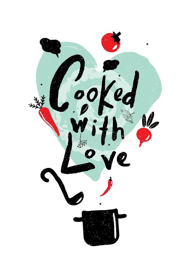 Μαγειρευμένος με την αγάπη απεικόνιση αποθεμάτων