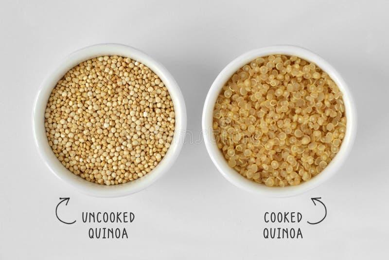 μαγειρευμένο quinoa άψητο στοκ εικόνες