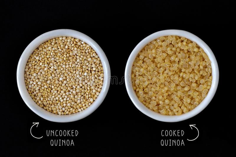 μαγειρευμένο quinoa άψητο στοκ φωτογραφία με δικαίωμα ελεύθερης χρήσης