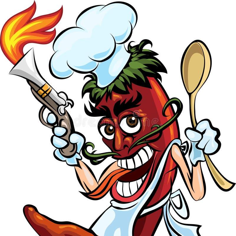 Μαγειρεψτε το πιπέρι ελεύθερη απεικόνιση δικαιώματος