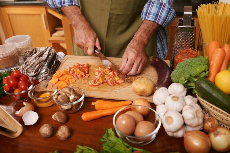 Μαγειρεύοντας γεύμα στοκ εικόνες