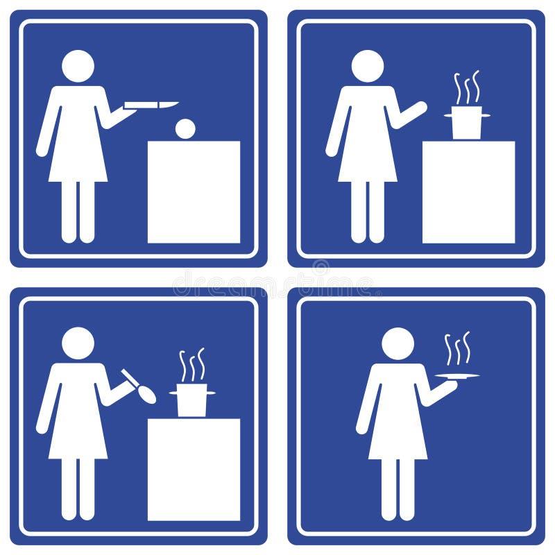 μαγειρεύοντας γυναίκα &epsi ελεύθερη απεικόνιση δικαιώματος