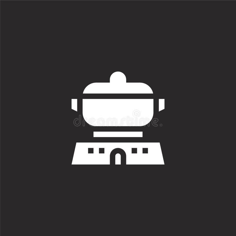 μαγειρεύοντας εικονίδιο Γεμισμένο μαγειρεύοντας εικονίδιο για το σχέδιο ιστοχώρου και κινητός, app ανάπτυξη μαγειρεύοντας εικονίδ διανυσματική απεικόνιση