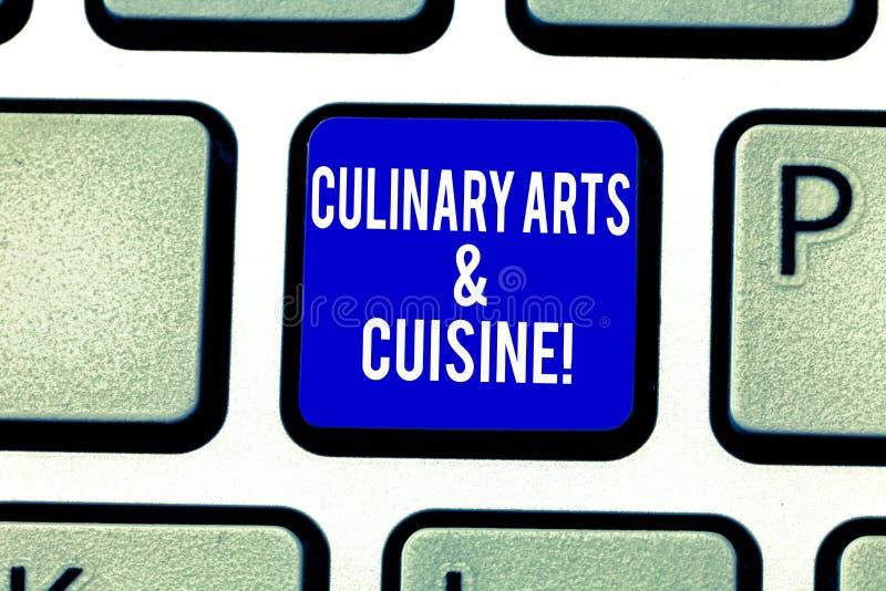 Μαγειρικές τέχνες και κουζίνα κειμένων γραφής Έννοια που σημαίνει τον αρχιμάγειρα που προετοιμάζει το γαστρονομικό κλειδί πληκτρο στοκ φωτογραφία με δικαίωμα ελεύθερης χρήσης