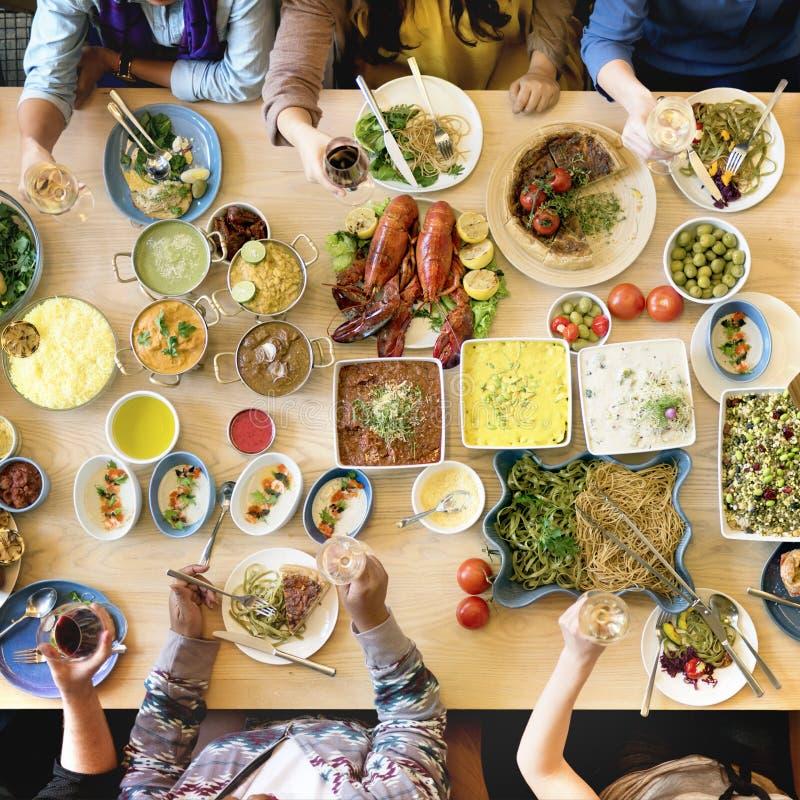 Μαγειρική γαστρονομική έννοια κόμματος μπουφέδων κουζίνας τομέα εστιάσεως τροφίμων στοκ εικόνες με δικαίωμα ελεύθερης χρήσης