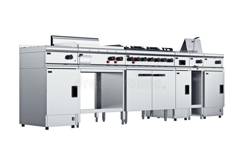 Μαγειρικός χάλυβας εξοπλισμού κουζινών διανυσματική απεικόνιση
