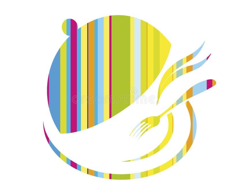 Μαγειρικό έμβλημα, λογότυπο για το εστιατόριο ελεύθερη απεικόνιση δικαιώματος