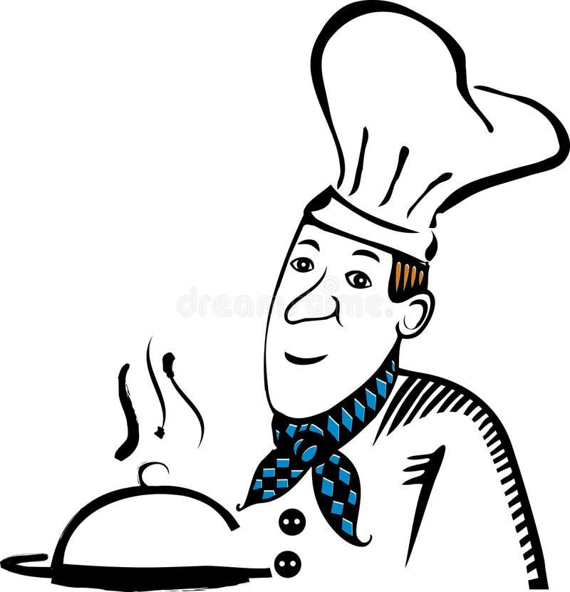 Μαγειρικό έμβλημα, λογότυπο για το εστιατόριο διανυσματική απεικόνιση