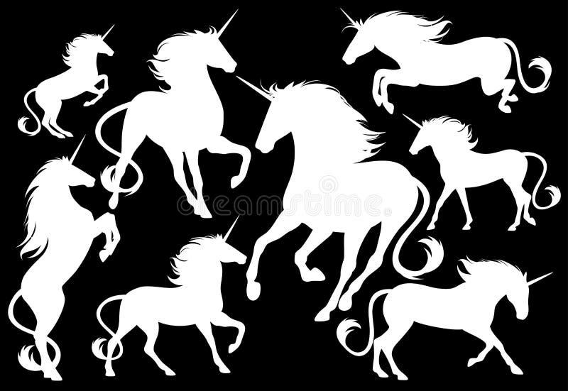 Μαγικά άλογα διανυσματική απεικόνιση