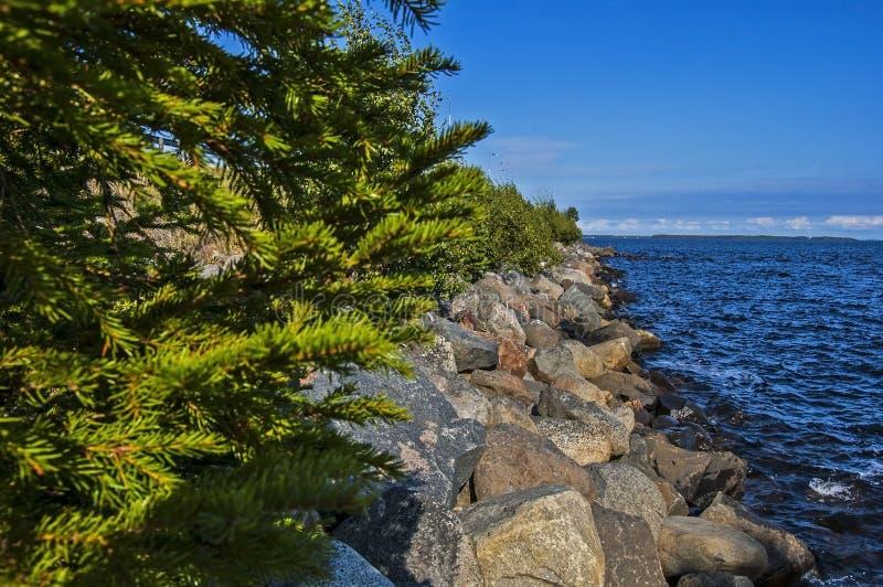 Μαγικά βόρεια σύνορα witn Φινλανδία της Σουηδίας στοκ φωτογραφία