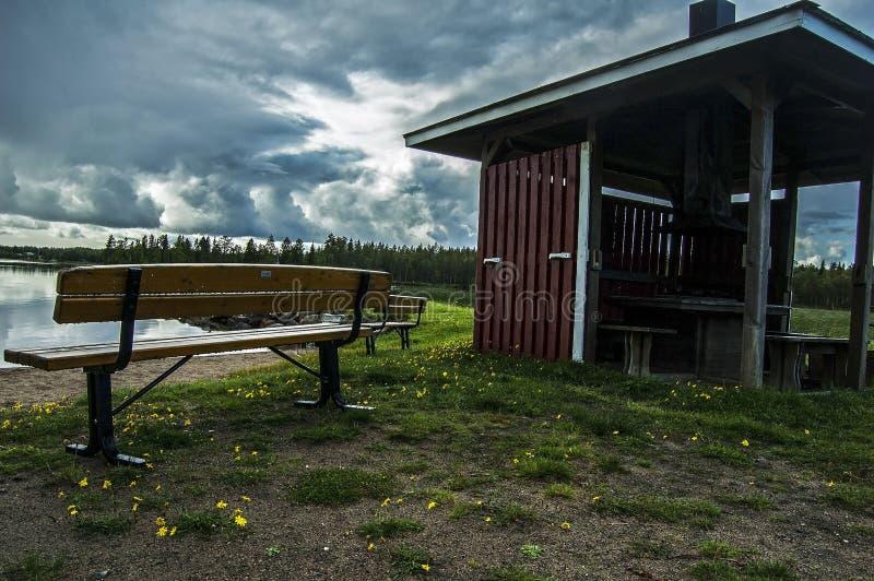 Μαγικά βόρεια σύνορα witn Φινλανδία της Σουηδίας στοκ εικόνα