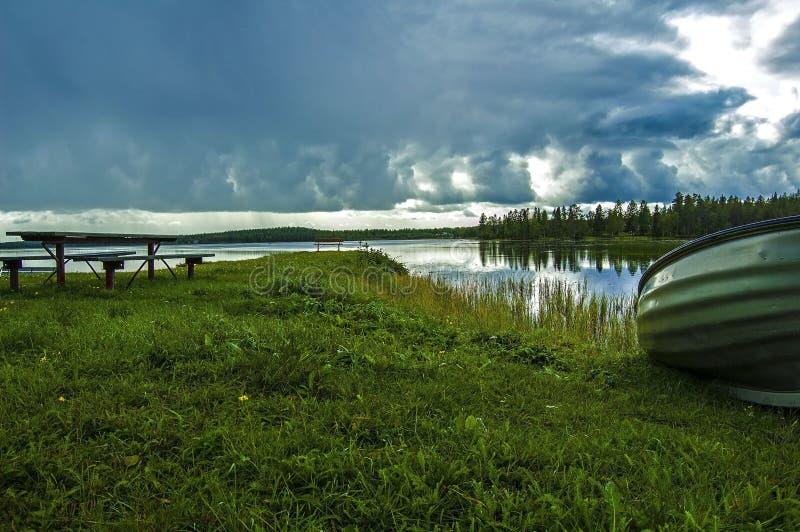 Μαγικά βόρεια σύνορα witn Φινλανδία της Σουηδίας στοκ εικόνες με δικαίωμα ελεύθερης χρήσης