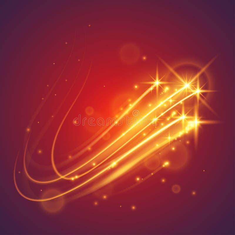 Μαγικά πετώντας αστέρια διανυσματική απεικόνιση