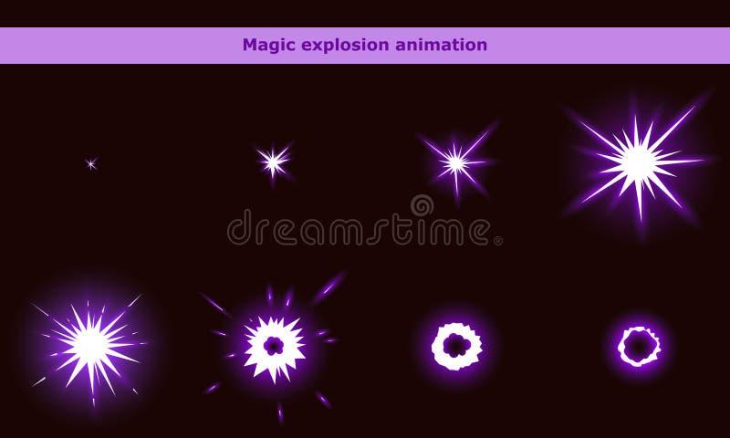 Μαγικά πλαίσια ζωτικότητας λάμψης για το παιχνίδι κινούμενων σχεδίων απεικόνιση αποθεμάτων