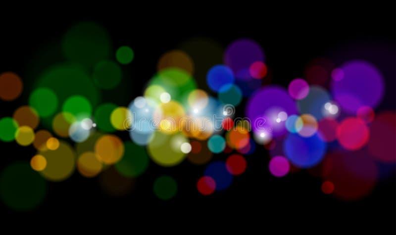 Μαγικά φω'τα χρώματος διανυσματική απεικόνιση