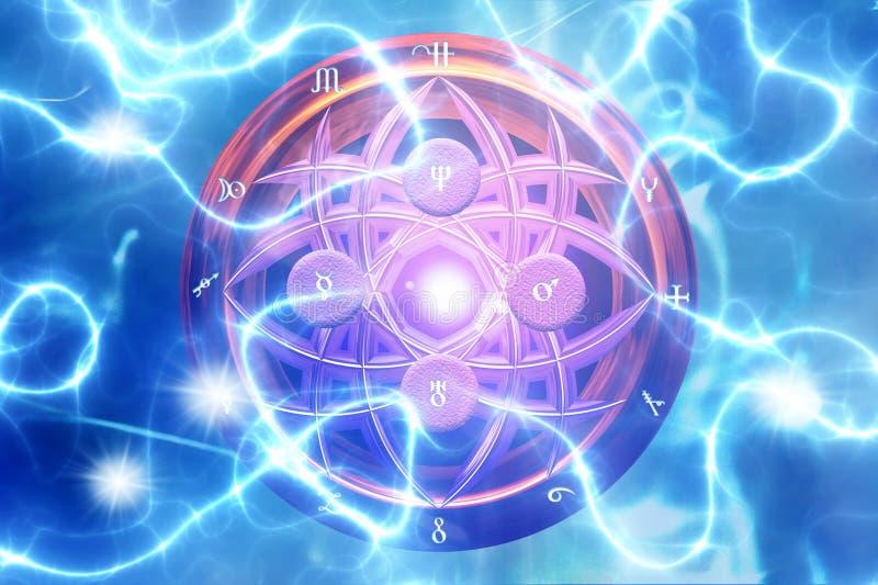 Μαγική αλχημεία διανυσματική απεικόνιση