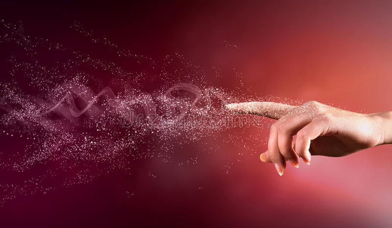 Μαγική εννοιολογική εικόνα χεριών στοκ φωτογραφία με δικαίωμα ελεύθερης χρήσης