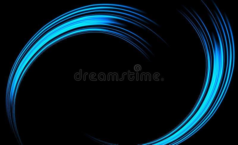 Μαγική επίδραση ιχνών ιχνών στροβίλου πυράκτωσης ελαφριά στο μαύρο υπόβαθρο Ακτινοβολήστε γραμμές κυμάτων σπινθήρων πυρκαγιάς με  ελεύθερη απεικόνιση δικαιώματος