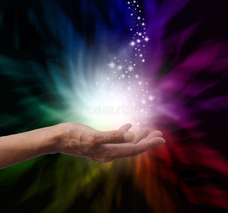 Μαγική θεραπεύοντας ενέργεια στοκ φωτογραφία με δικαίωμα ελεύθερης χρήσης